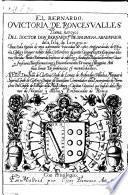 El Bernardo, O Victoria De Roncesvalles, poema heroyeo