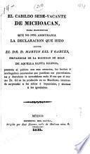 El cabildo sede-vacante de Michoacan