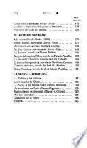 El crítico y su crítico. Una dedicatoria impertinente. Quien era Palmerín de Oliva. El arte de novelar. La nueva literatura