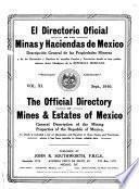 El directorio oficial de la minas y haciendas de Mexico