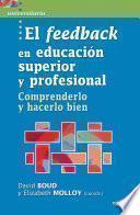 El feedback en Educación superior y profesional