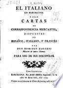 El Italiano en Barcelona, ó sean Cartas de correspondencia mercantil