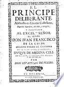 El principe deliberante, abstracto en idioma castellano ... Por don Sevastian de Vcedo