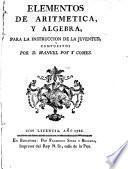 Elementos de aritmetica, y algebra, para la instruccion de la juventud