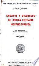 Ensayos y discursos de critica literaria hispano-europea