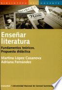 Enseñar literatura