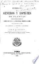 Enumeración de los géneros y especies de plantas