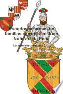 Escudos de armas de familias canarias en Juan Núñez de la Peña