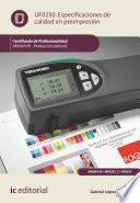 Especificaciones de calidad en preimpresión. ARGN0109