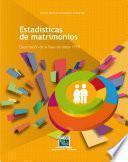 Estadísticas de matrimonios. Descripción de la base de datos 1998