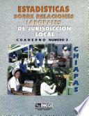 Estadísticas sobre relaciones laborales de jurisdicción local. Chiapas. Cuaderno número 3