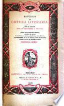 Estudios de critica literaria por el doctor Don M. Menéndez y Pelayo: ser. [v. 3.] Bartolom ́de Torres Naharro. Elabate Marchena
