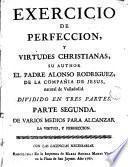 Exercicio de perfeccion y virtudes christianas, 2