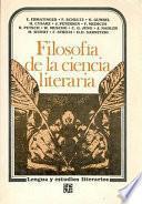 Filosofía de la ciencia literaria