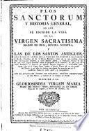 Flos sanctorum y historia general