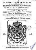 Fundacion, ordenanzas y constituciones del insigne orden del Toyson de Oro