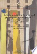 Gestión y auditoría de la calidad para organizaciones públicas