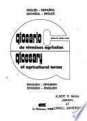 Glosario de Términos Agrícolas