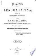 Gramática de la lengua Latina para el uso de los que hablan Castellano