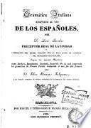 Gramática italiana adaptada al uso de los españoles