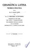 Gramática latina teórico-práctica