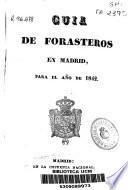 Guía de forasteros en Madrid para el año de 1842