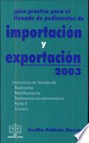 Guía Prác. para el Llenado de Proced. De Importación y Exportación