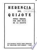 Herencia del Quijote