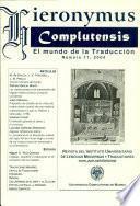 hieronymus Complutensis El mundo de la Traduccion