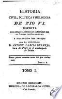 Historia civil, política y religiosa de Pio VI