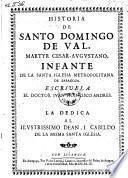 Historia de Santo Domingo de Val, martyr Cesar-Augustavo