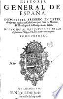 Historia general de España, 1
