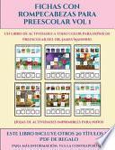 Hojas de actividades imprimibles para niños (Fichas con rompecabezas para preescolar Vol 1)