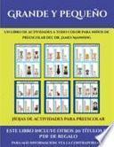 Hojas de actividades para preescolar (Grande y pequeño)