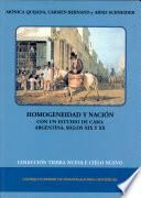 Homogeneidad y nación