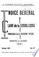 Indice general y clave de la legislación publicada en el Registro oficial