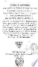 Indice último de los libros prohibidos y mandados expurgar para todos los reynos y señorios del católico Rey de las Españas, el señor Carlos IV ...