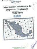 Información financiera de empresas mexicanas, 1980-1985