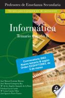 Informatica. Temario B. Profesores de Educacion Secundaria Ebook