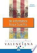 Informaticos Generalitat Valenciana. Grupos a Y B. Temario Bloque Especifico Volumen I.e-book.