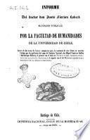 Informe acerca de dos textos de frances compuestos para la enseñanza de este idioma en nuestros colejios