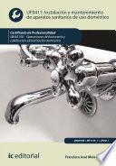 Instalación y mantenimiento de aparatos sanitarios de uso doméstico. IMAI0108