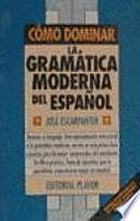 Introducción a la moderna gramática española