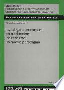 Investigar con corpus en traducción