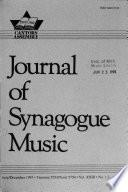 Journal of synagogue music