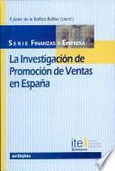 La investigación de promoción de ventas en España