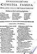 La Moza de Cántaro. Comedia. MS. note [by J. R. Chorley].