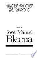 La Poesía aragonesa del barroco