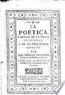 La Poética o Reglas de Poesía ...