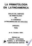 La primatologia en Latinoamerica